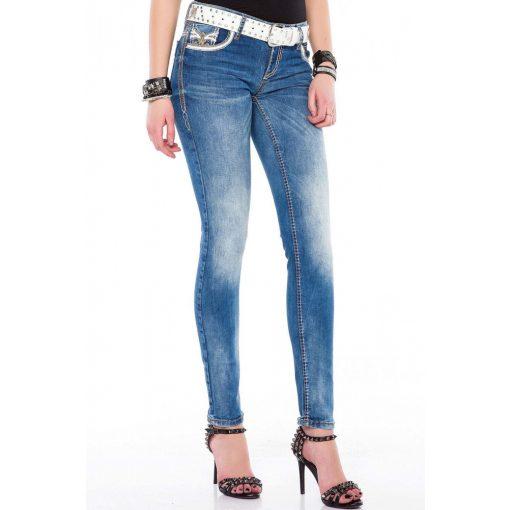 Cipo & Baxx divatos női farmernadrág WD343 Blue