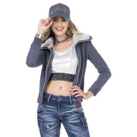 Cipo & Baxx divatos női pulóver WL177INDIGO