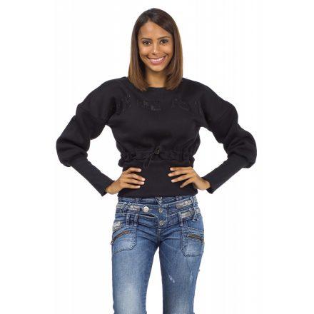 Cipo & Baxx divatos női pulóver WL186BLACK