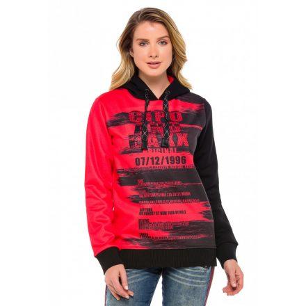 Cipo & Baxx divatos női pulóver WL208RED
