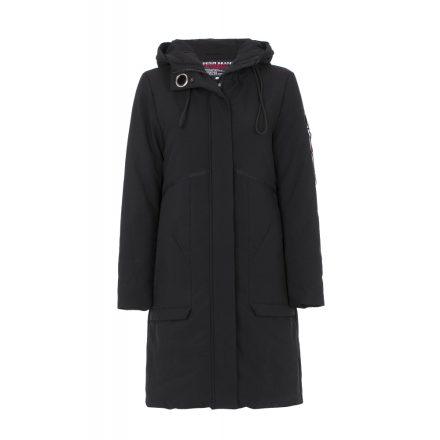 Cipo & Baxx divatos hosszú női kabát WM105BLACK