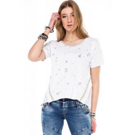 Cipo & Baxx fashionable women's T-shirt wt246white