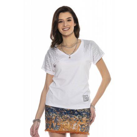 Cipo & Baxx divatos női póló WT309 White