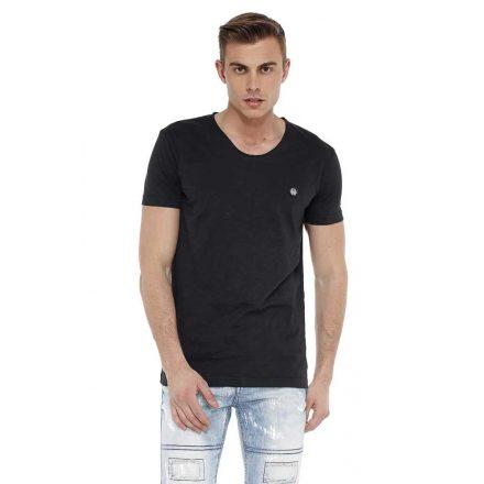Cipo & Baxx fashionable men's T-shirt ct522black
