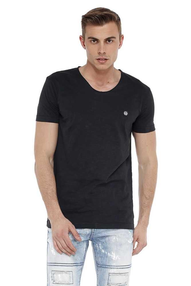 Cipo & Baxx divatos férfi póló ct523black Cipo & Baxx