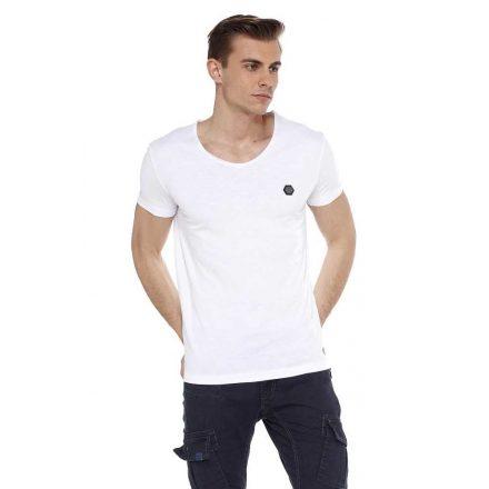 Cipo & Baxx fashionable men's T-shirt ct522white