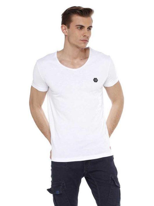 Cipo & Baxx divatos férfi póló ct522white