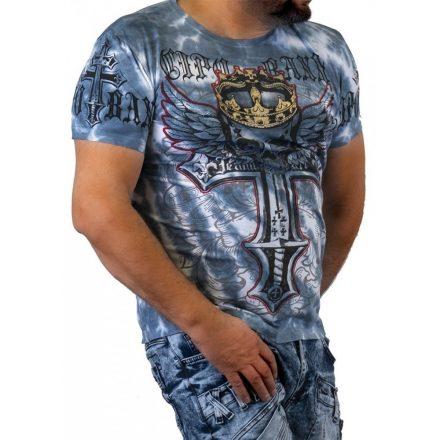 Cipo&Baxx divatos férfi póló CT555BLUE