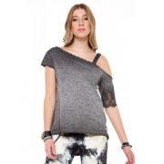 Cipo & Baxx fashionable women's T-shirt wt229antra