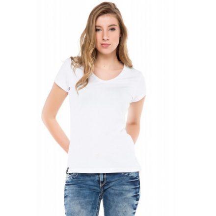Cipo & Baxx divatos női póló wt250white
